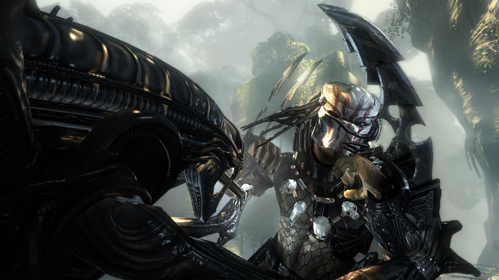 video game aliens vs. predator alien predator battle humans wallpaper
