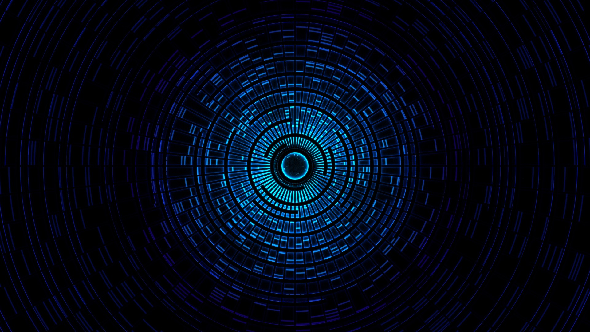 digital blasphemy blue tunnel vision nexus wallpaper