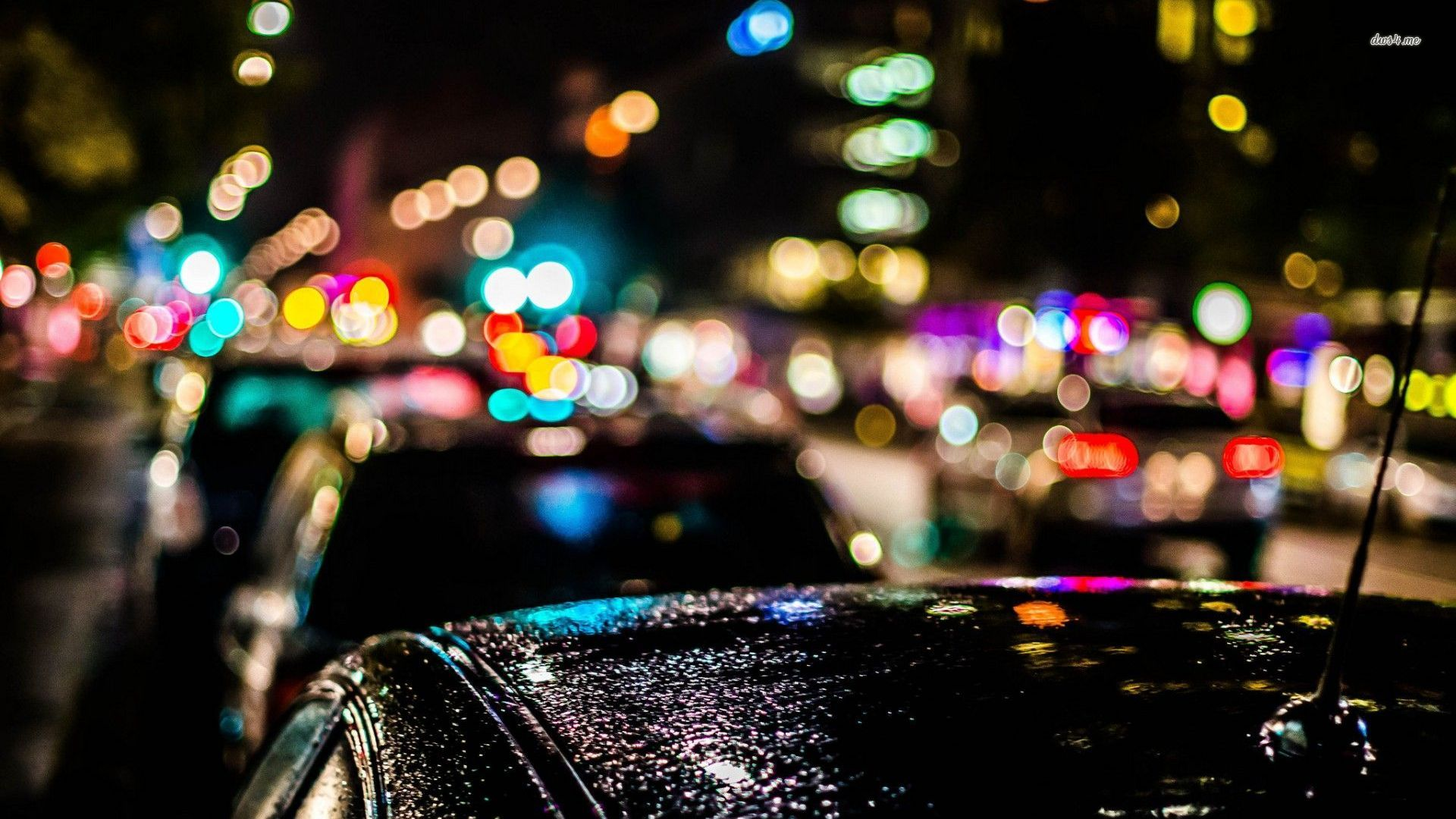 blurred city lights over the cars wallpaper photography wallpapers