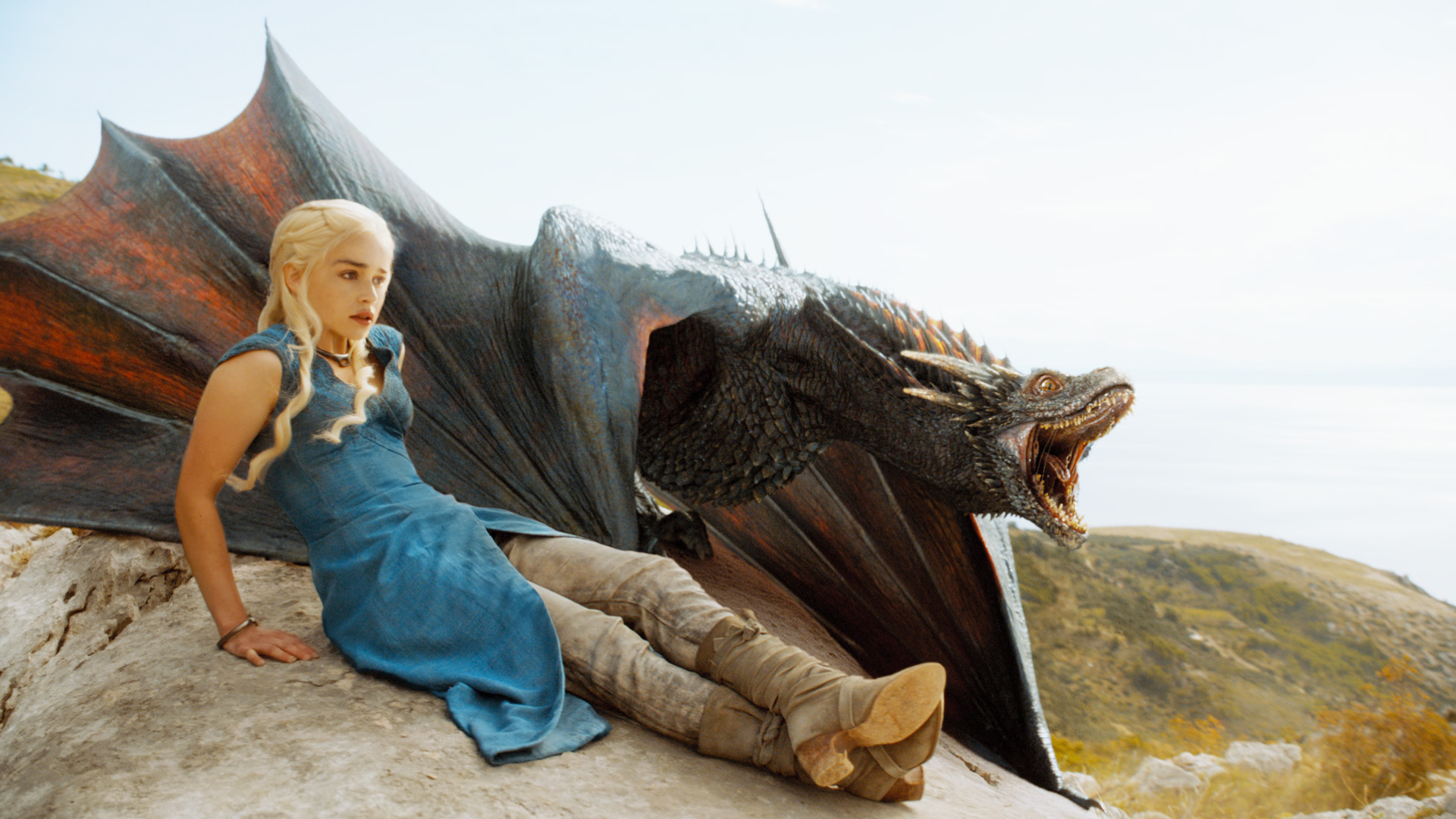 game de thrones, série tv, daenerys targaryen, dragon, emilia clarke