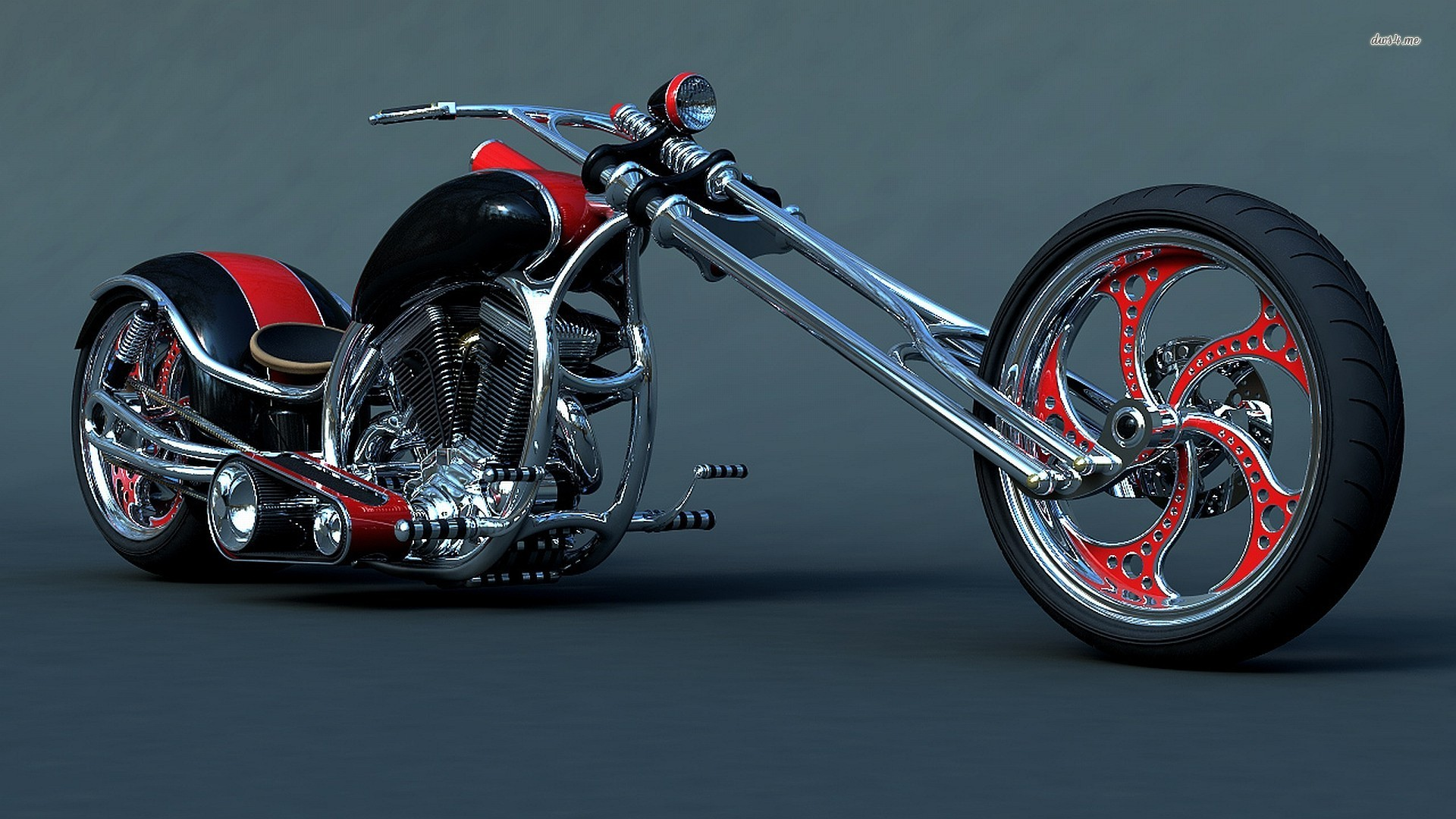 custom harley davidson chopper wallpaper