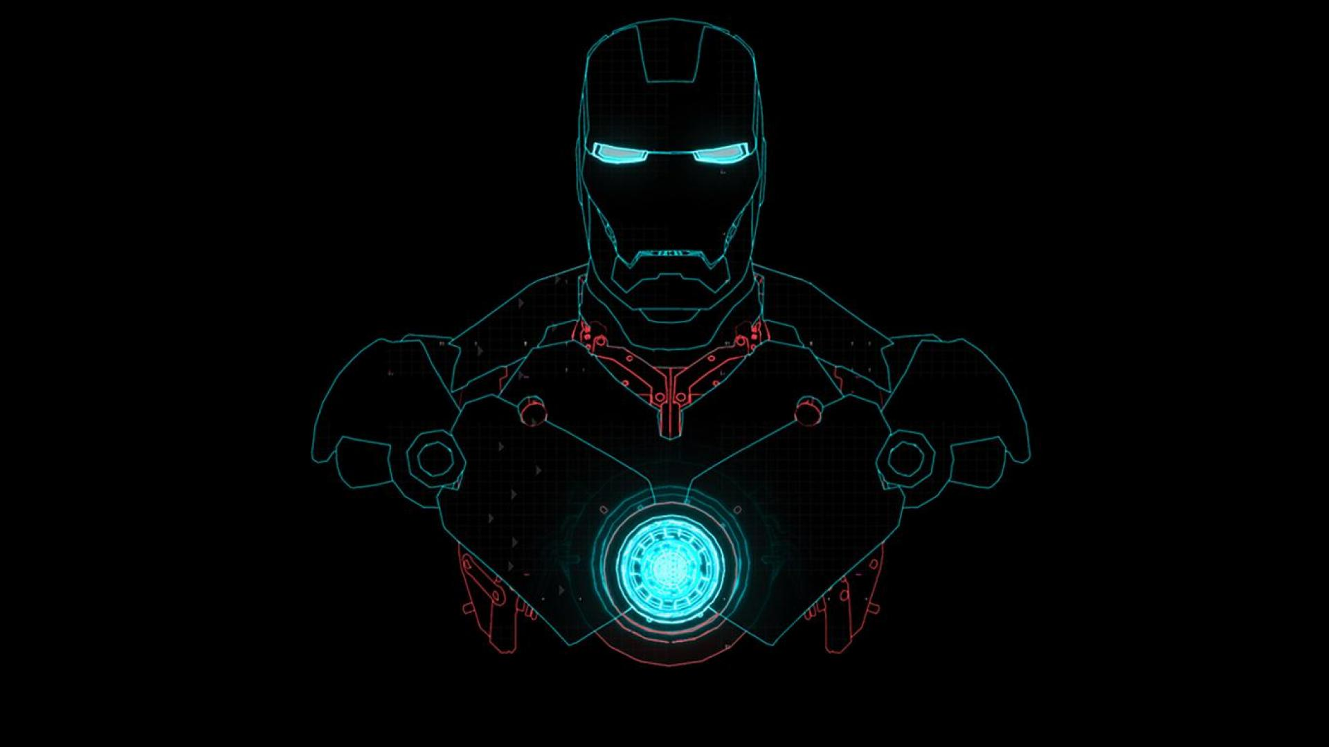fonds d'écran iron man, tony stark, robot, lumières électriques