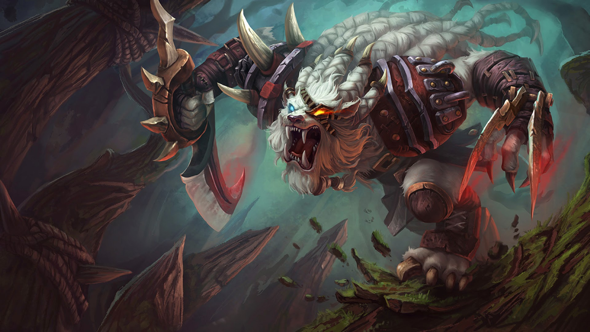 rengar league de legends hd wallpaper lol champion x .