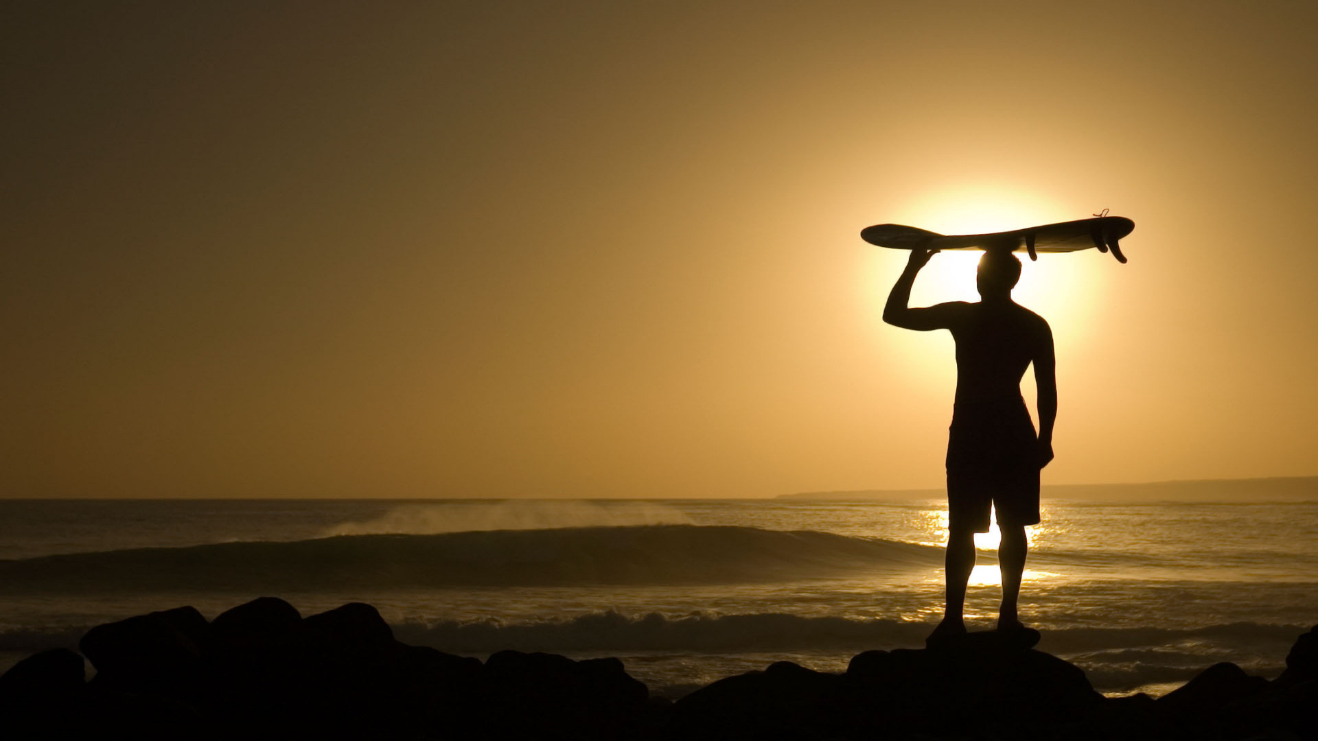 surfer at sunset wallpapers