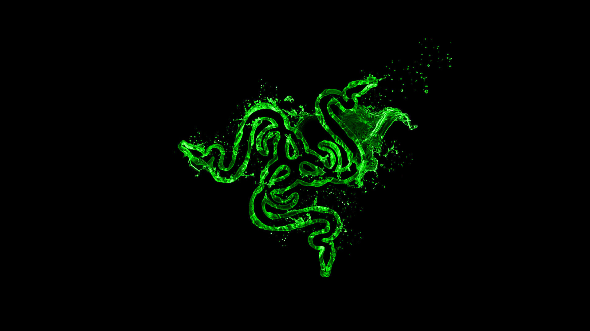 green razer logo wallpaper
