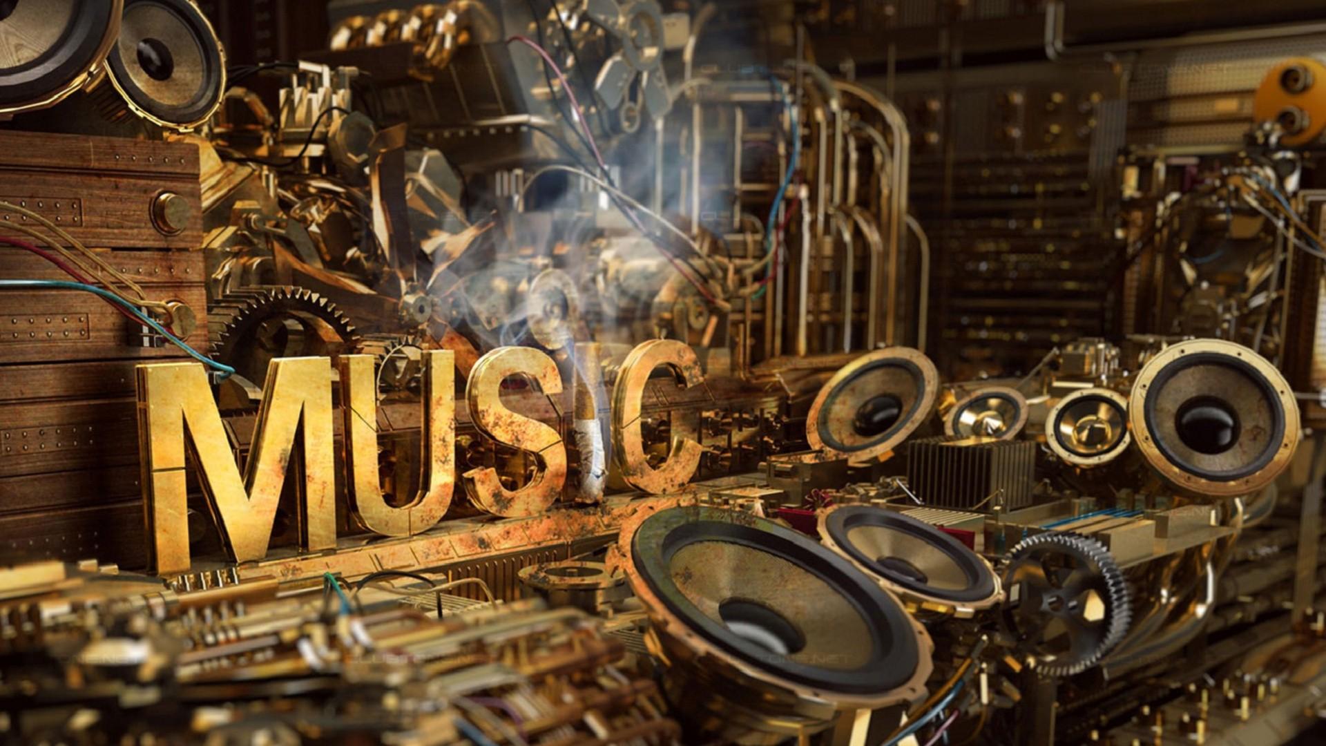 page d'accueil musique fonds d'écran hd musique, steampunk