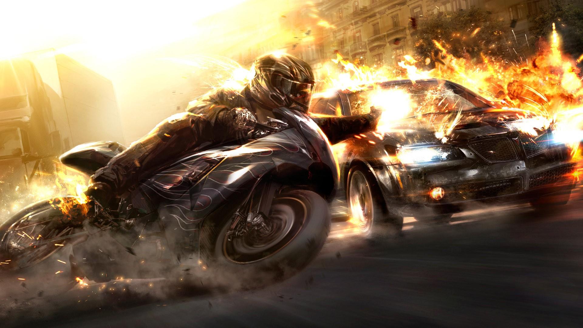 fond d'ecran moto voiture fond d'écran