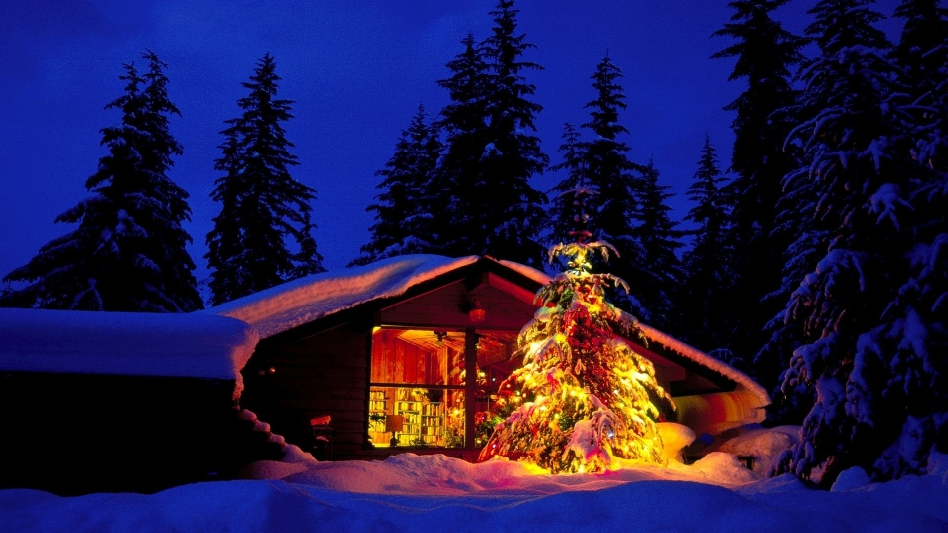 wallpapers noel paysage christmas - photo #25