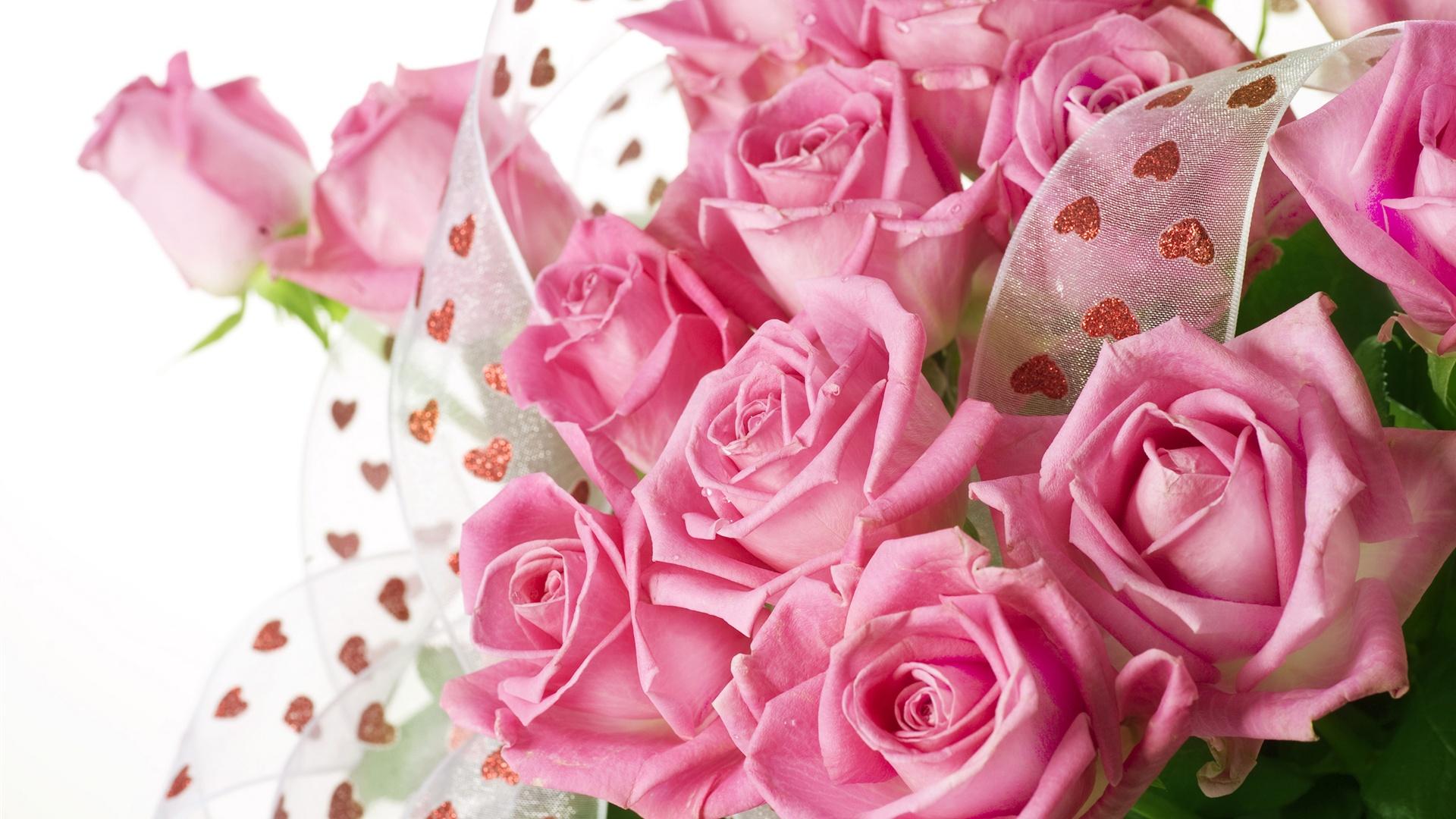roses rose bouquet avec des gouttes d'eau fonds d'écran x