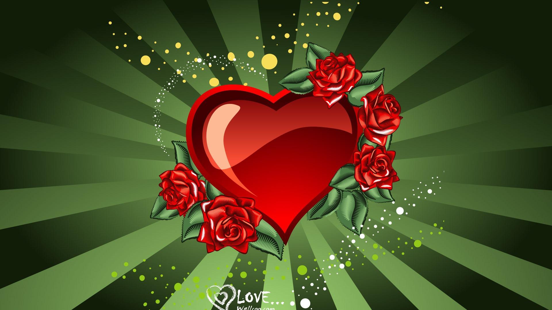 rose amour saint valentin en forme de cœur fonds d'écran de