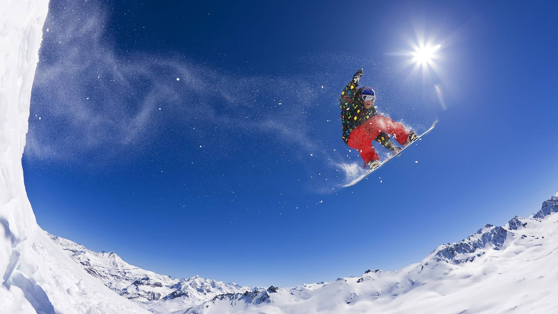 snowboarding alps   wallpaper