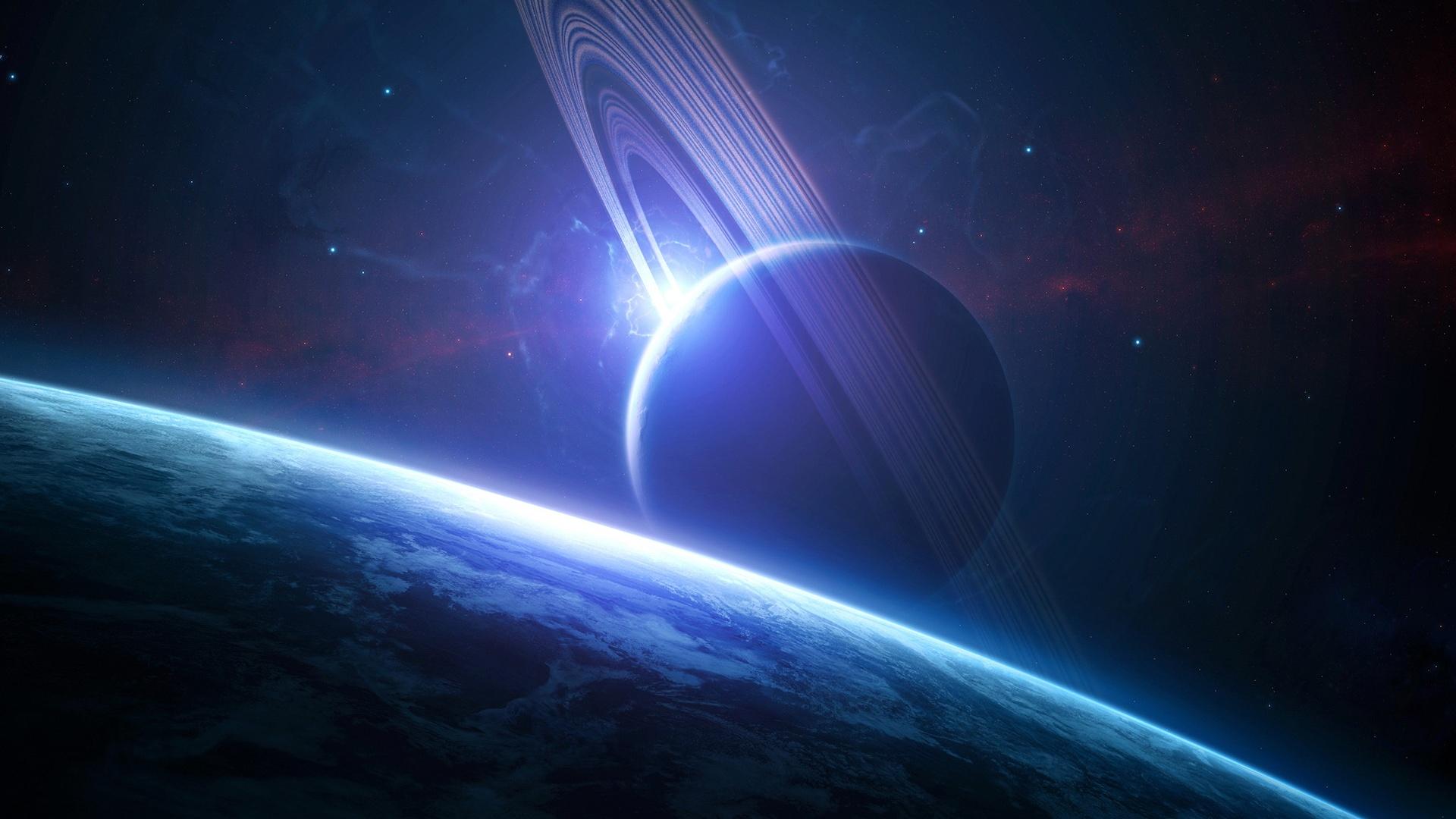 fond ecran : anneaux de saturne id :  rubrique de l'image