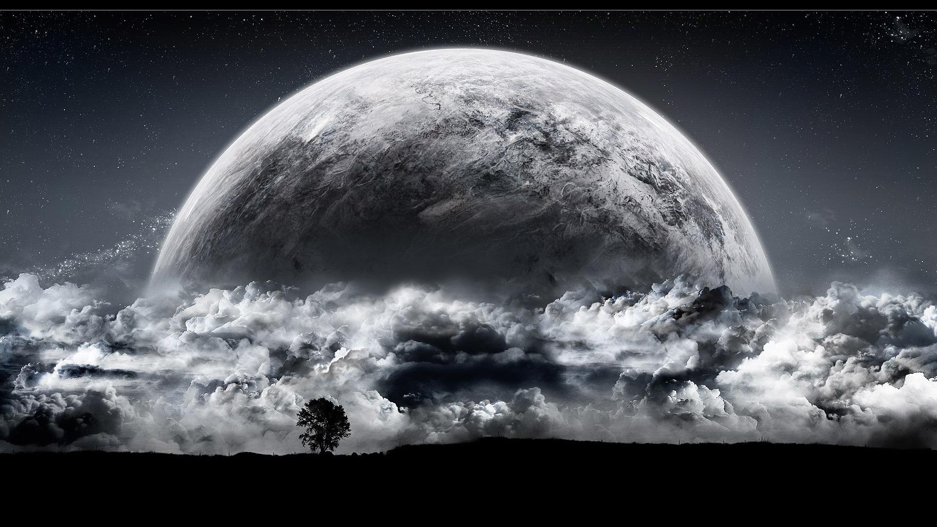 espace la sci fi élévation d'une planète x fond d'écran