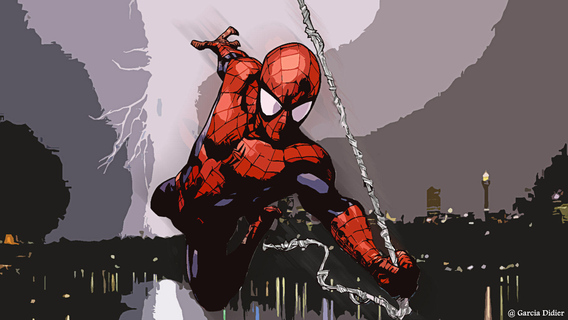 fond ecran spiderman  par dgarcia on deviantart