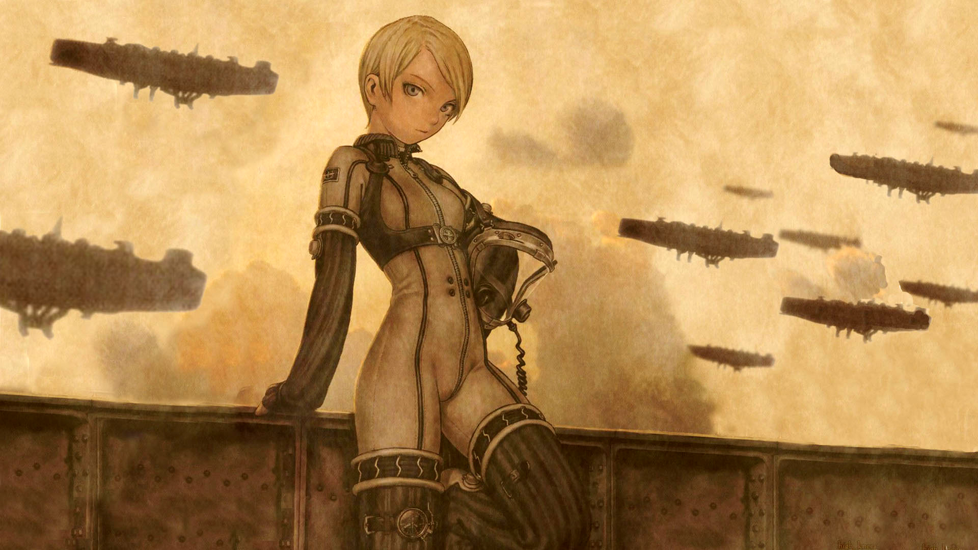 steampunk last exile anime girls