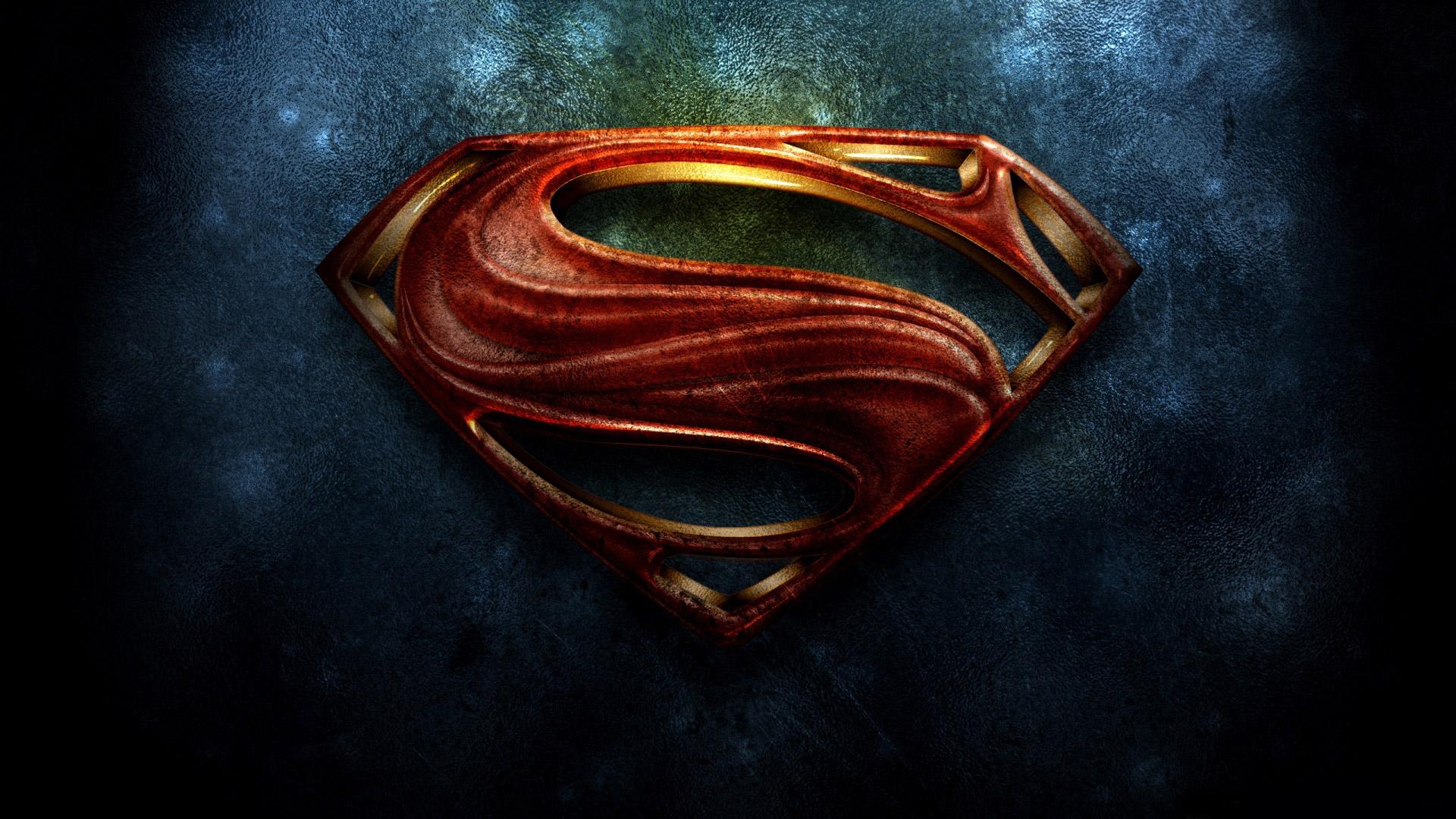 superman the man of steel  logo hd wallpaper