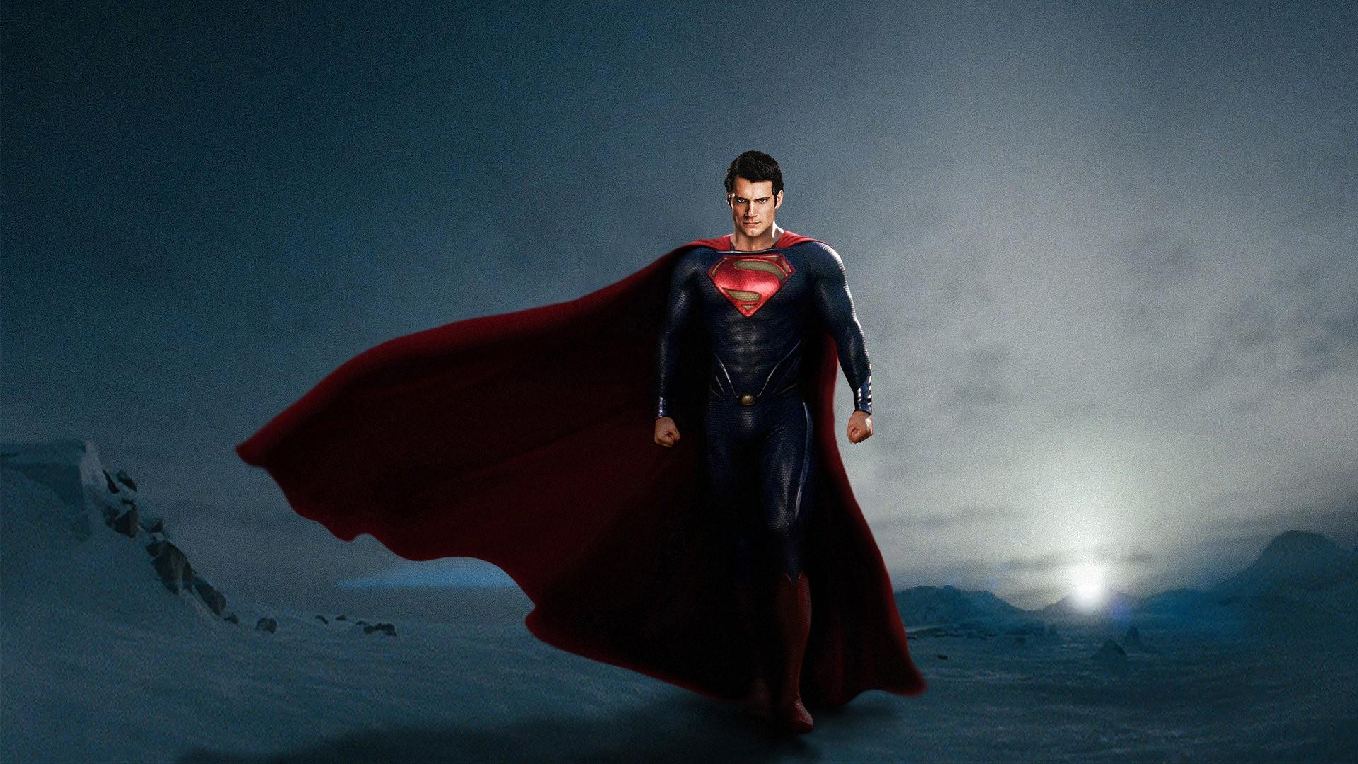 fond d'écran: superman dans man de steel