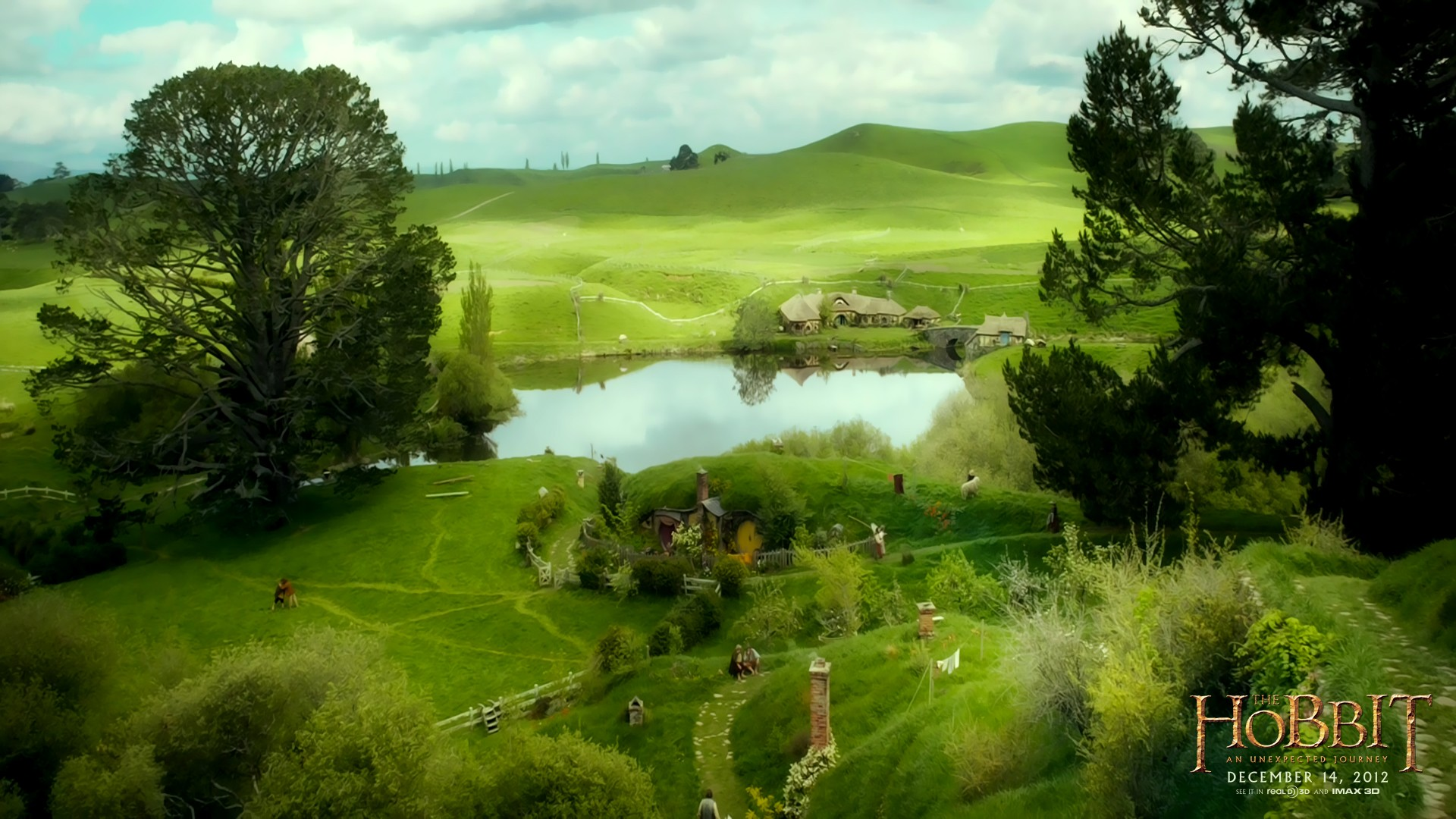 shire hobbit wallpaper