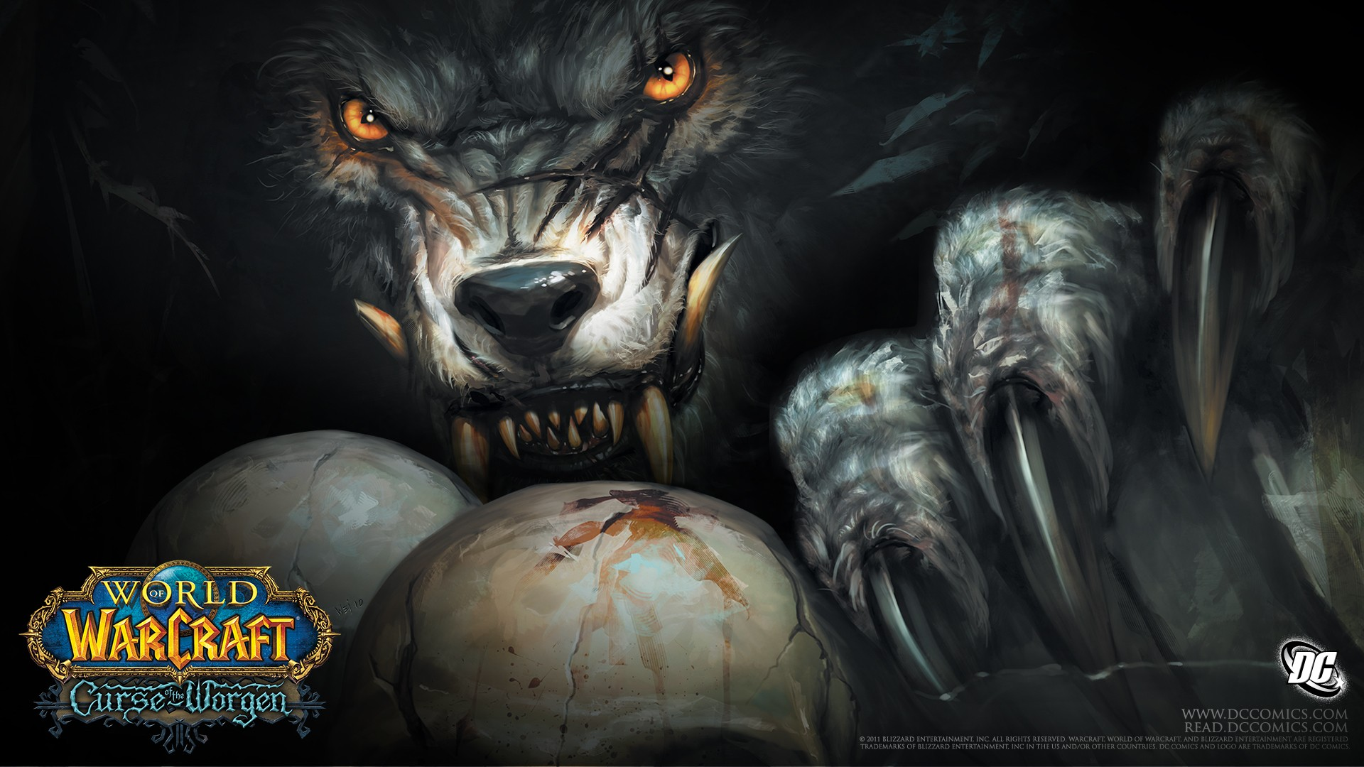 world de warcraft: the curse de worgen fonds d'écran, arrières plan