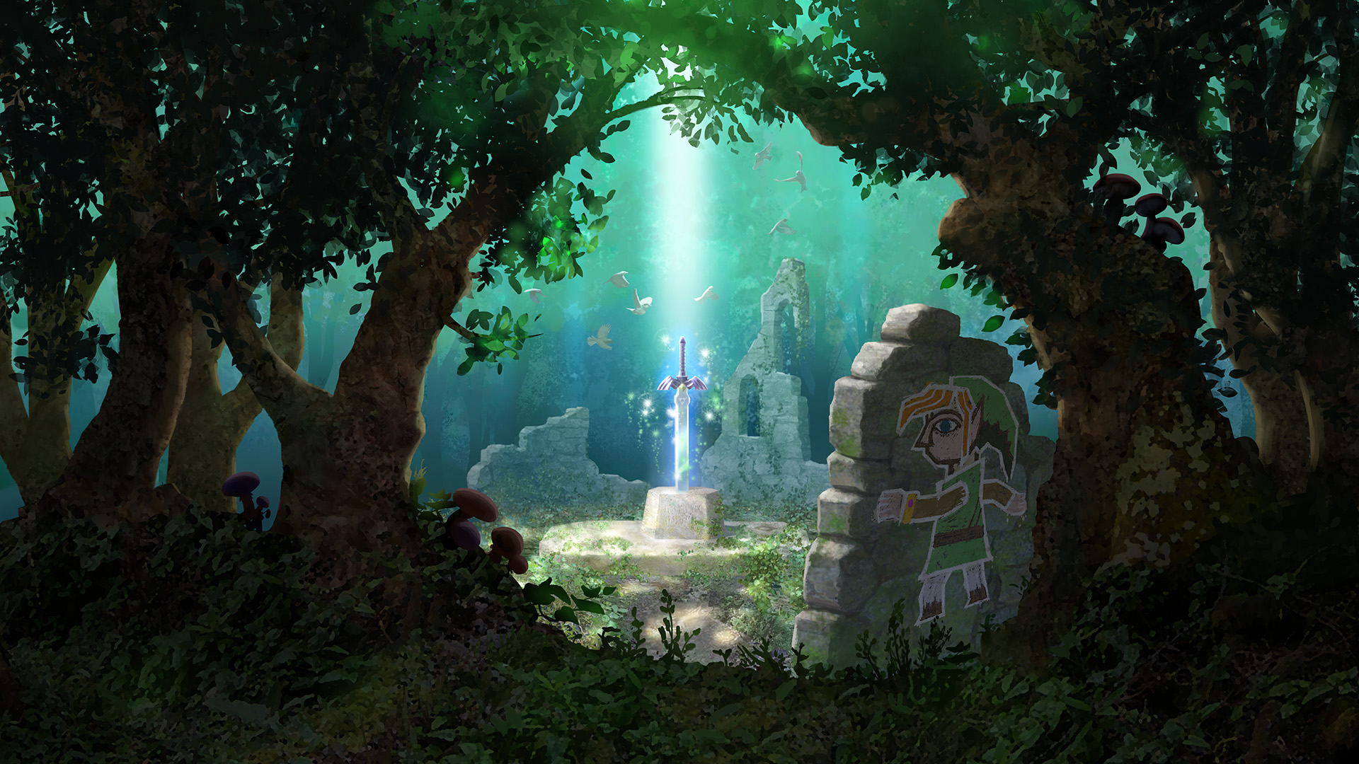 zelda jeux vidéo the legend de zelda: a link between worlds