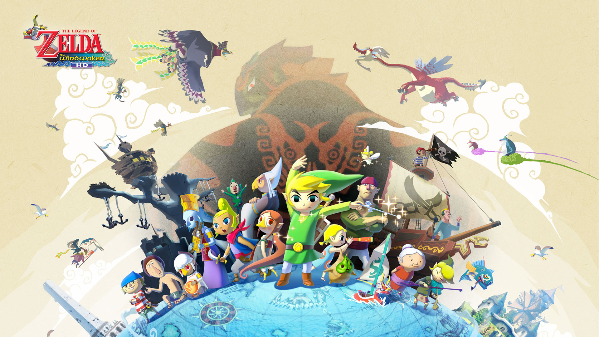fond d'écran du jeu the legend de zelda : the wind waker hd