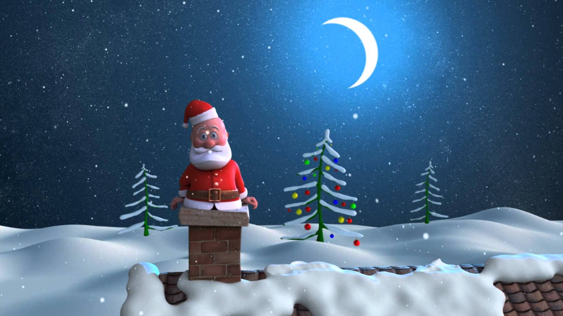 animated santa claus 8 cool wallpaper hivewallpaper.com